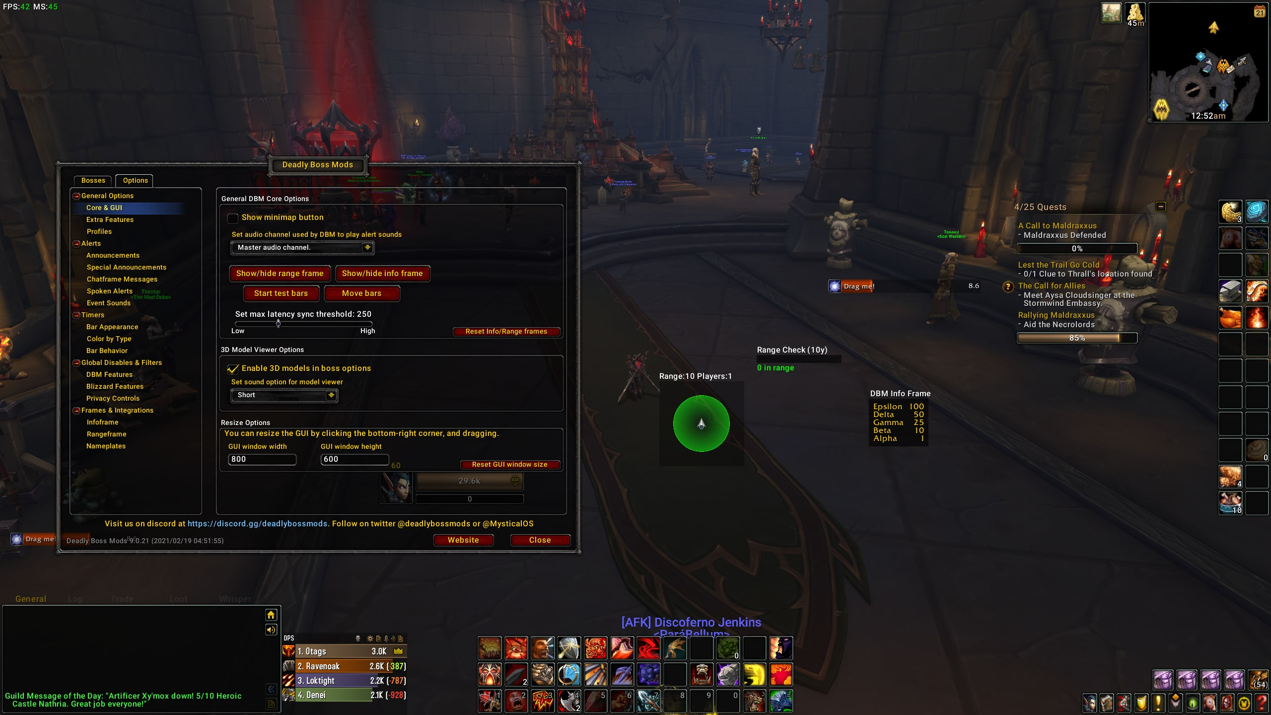 Wow Addon Deadly Boss Mods Dbm Options Move
