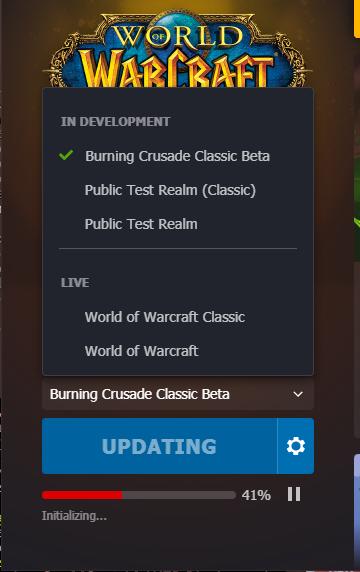 beta in launcher