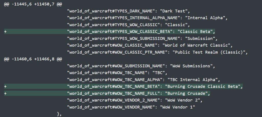 burning crusade classic beta officially named in battle.net catalog