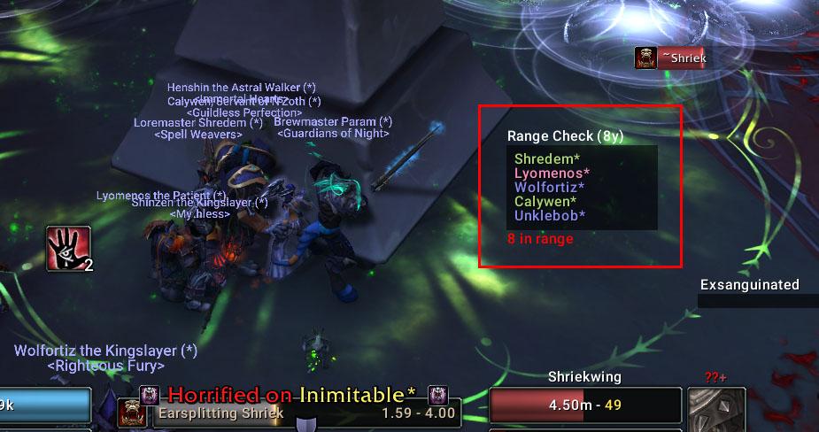 deadly boss mods wow addon range check
