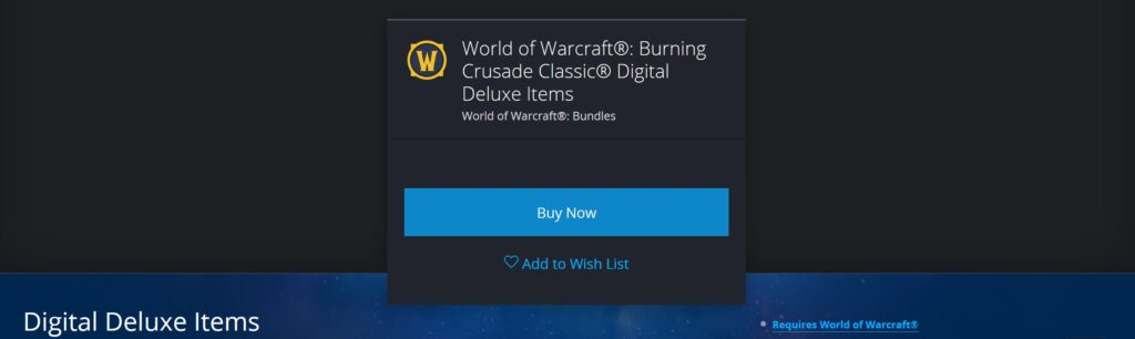 leak the burning crusade classic deluxe edition rewards datamined