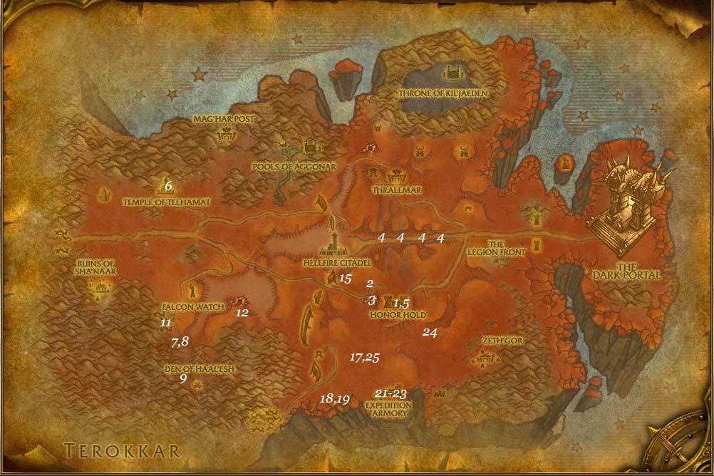 leveling guide hellfire peninsula part 3 steps 1 25
