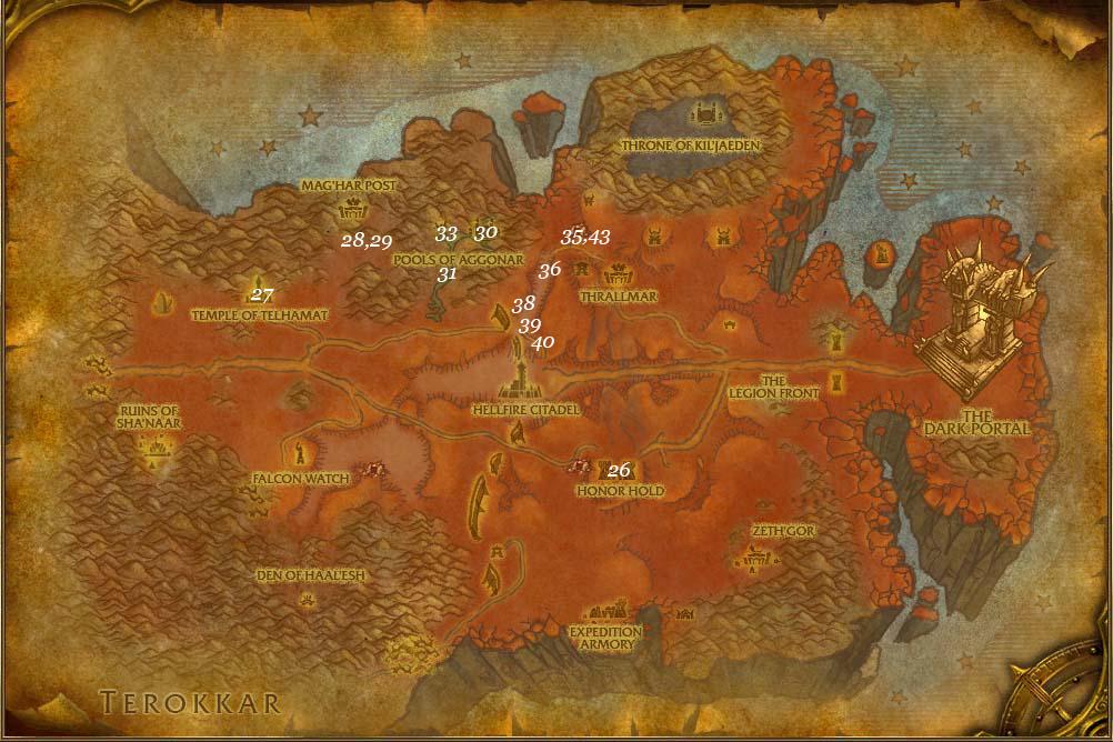 leveling guide hellfire peninsula part 4 steps 25 44