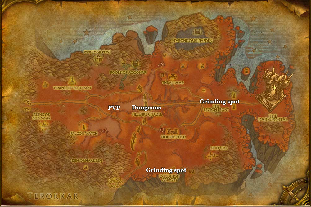 leveling guide hellfire peninsula part 6 dungeons and grinding spots