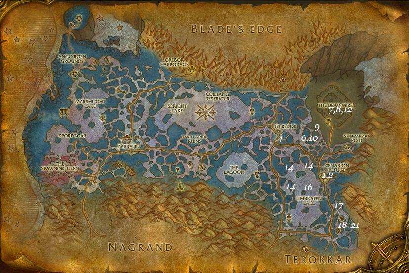leveling guide zangarmarsh part 1 steps 1 22