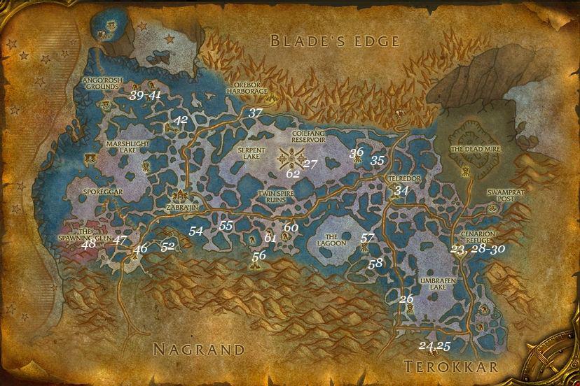 leveling guide zangarmarsh part 2 steps 23 62