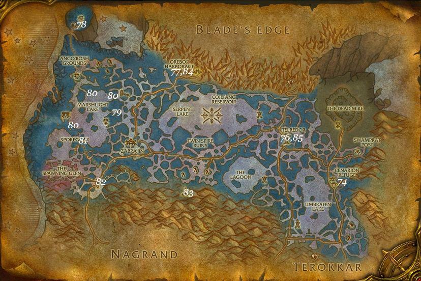 leveling guide zangarmarsh part 4 steps 74 85