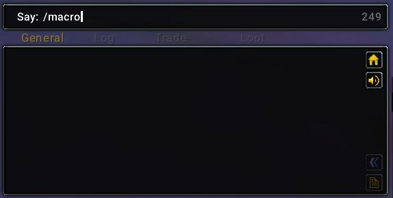 world of warcraft macro chat