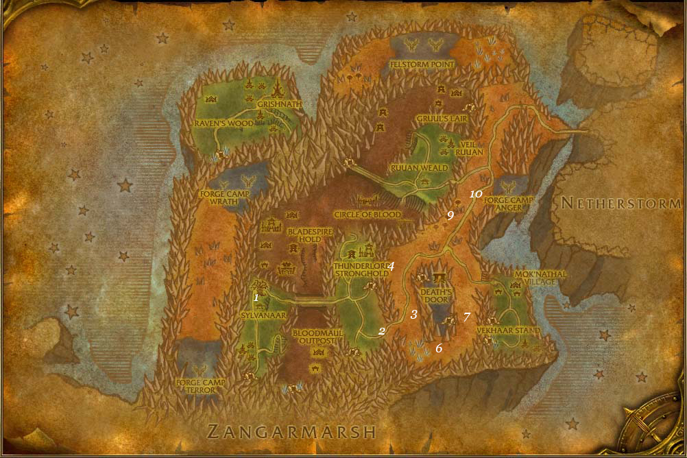 alliance leveing guide blades edge mountains part 3 steps 1 10