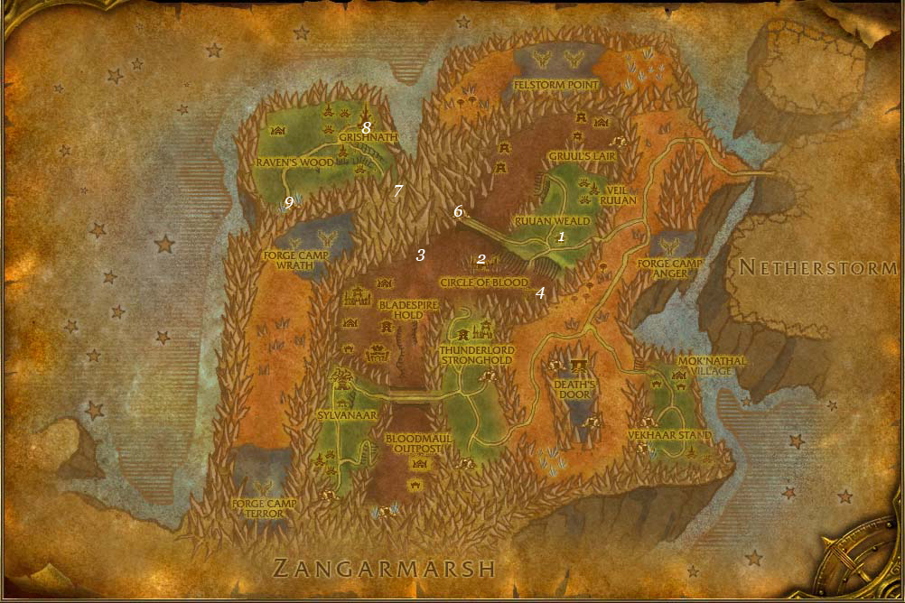 alliance leveing guide blades edge mountains part 5 steps 1 9