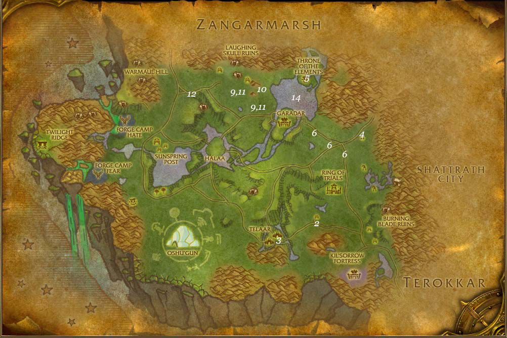 alliance leveing guide nagrand part 1 steps 1 14