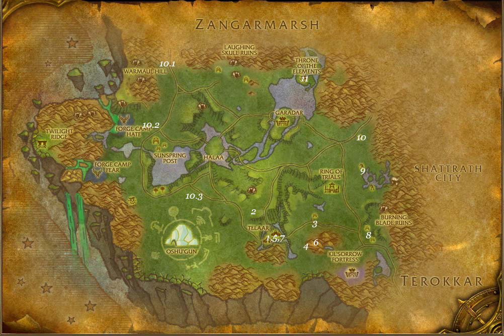 alliance leveing guide nagrand part 2 steps 1 11