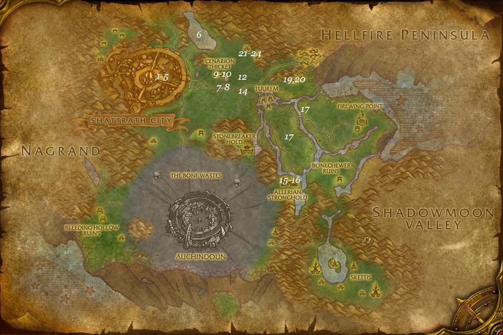 alliance leveing guide terokkar forest part 1 steps 1 24