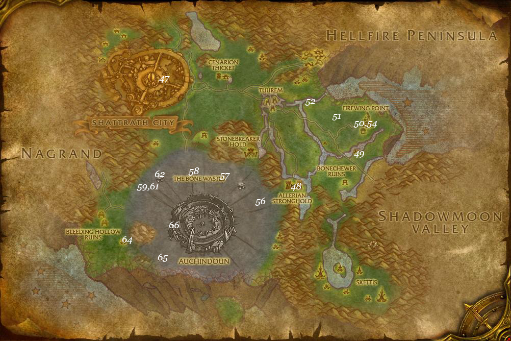 alliance leveing guide terokkar forest part 4 steps 47 66