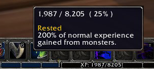 tbc classic rested exp