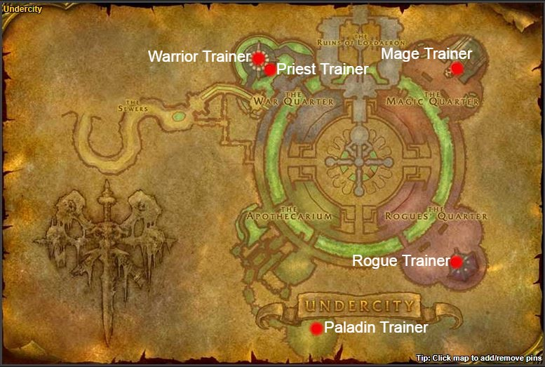 TBC Classic Class Trainers horde undercity