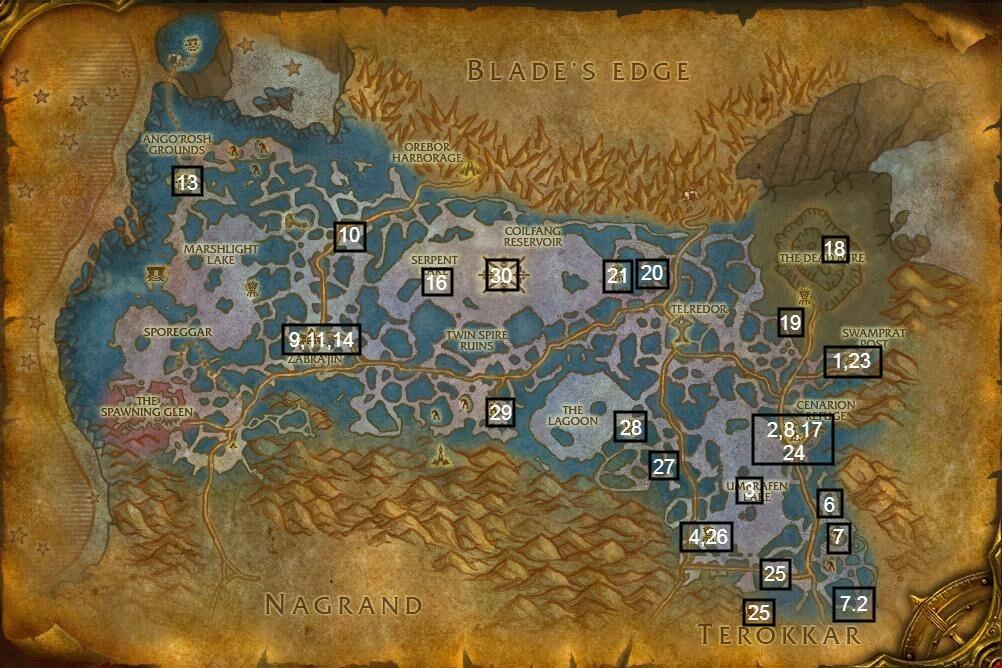 zangarmarsh map part 1