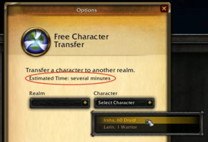 free character transfers available for some realms