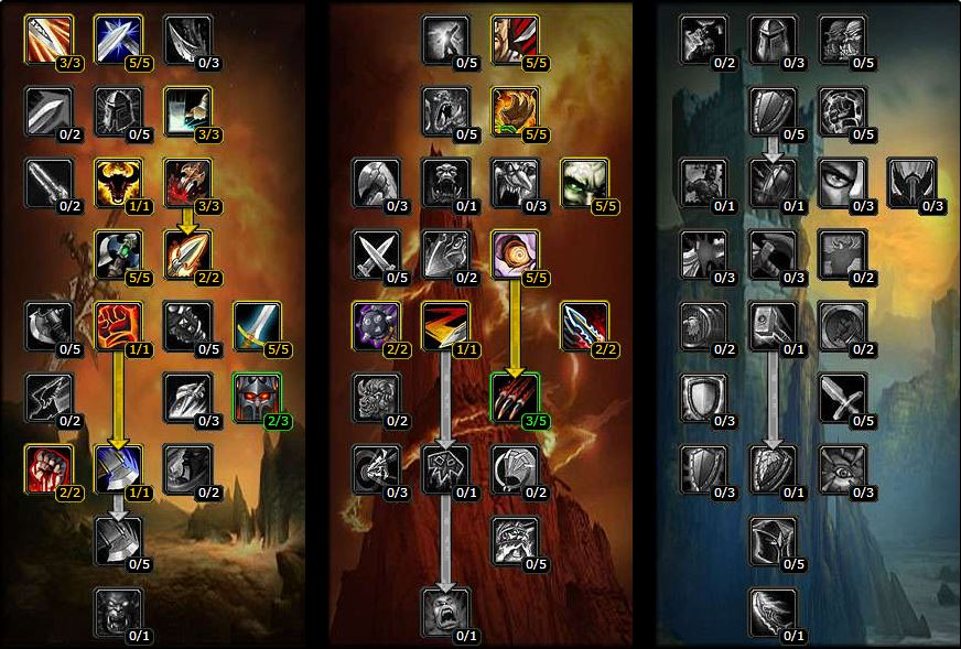 pve arms warrior talents and builds