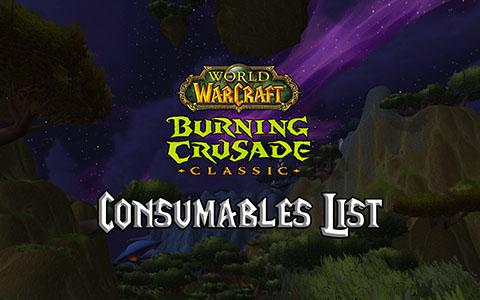 tbc classic consumables list burning crusade classic