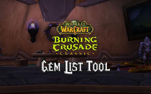 tbc classic gems burning crusade classic gem list tool