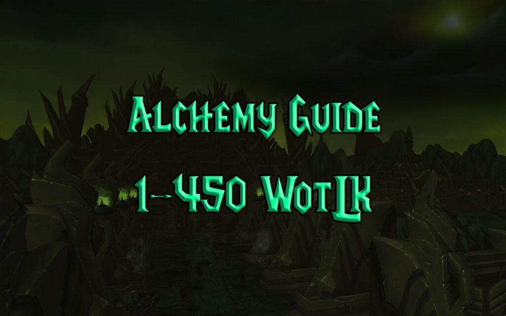 Alchemy Guide 1 450 WotLK 3.3.5a