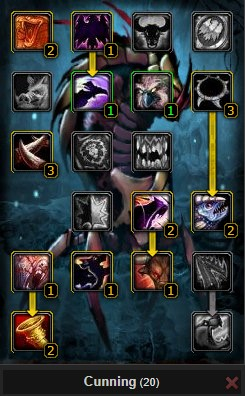 Pvp Beast Mastery Hunter Cunning Chimaera Pet Talent Tree Wow 3.3.5a