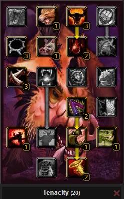 Pvp Beast Mastery Hunter Tenacity Worm Pet Talent Tree Wow 3.3.5a