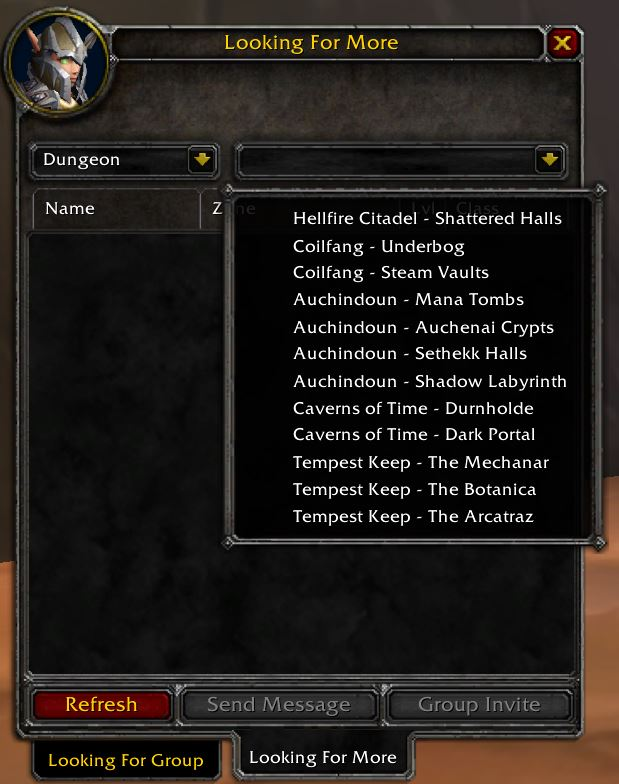 tbc classic lfg tool looking for more
