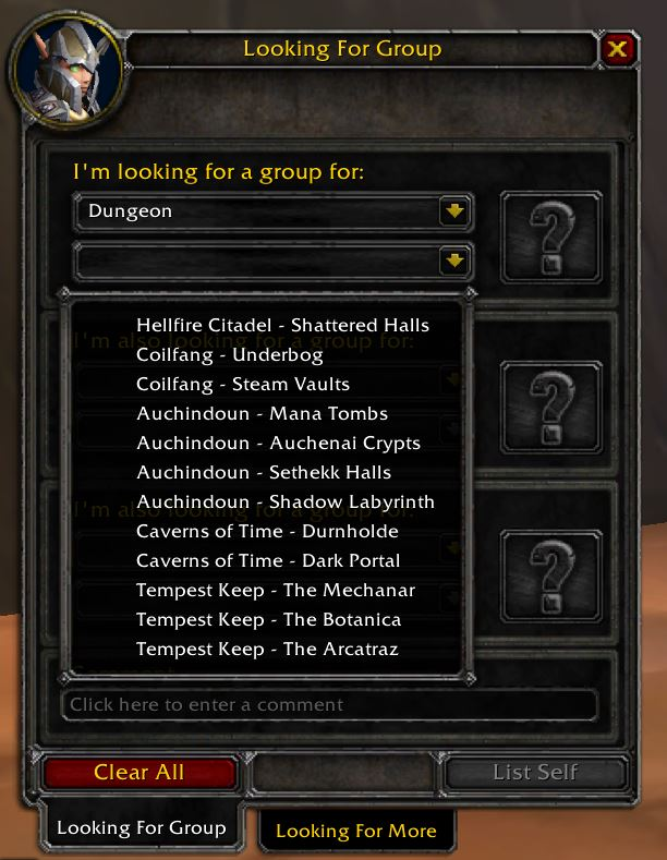 tbc classic looking for group tool 1