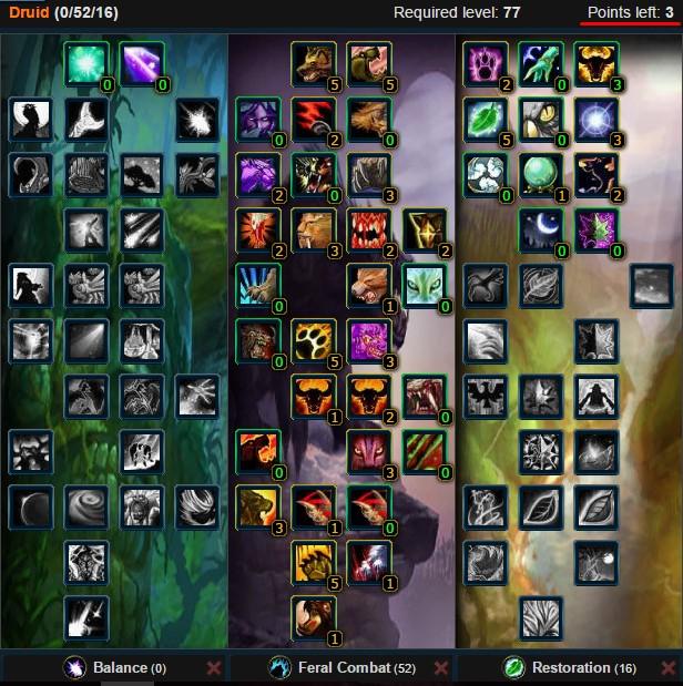 Feral Druid Cat Talent Tree Wow 3.3.5a