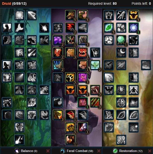 Feral Druid Shred Talent Tree Wow 3.3.5a