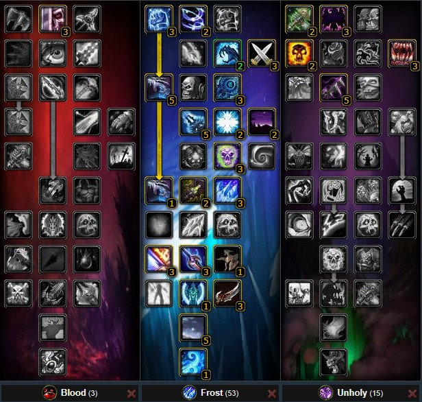 frost death knight pve dps talent tree wow 3.3.3a, suitable for new players
