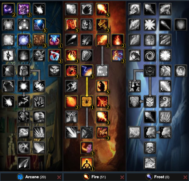 20/51/00 WotLK Fire Mage Build