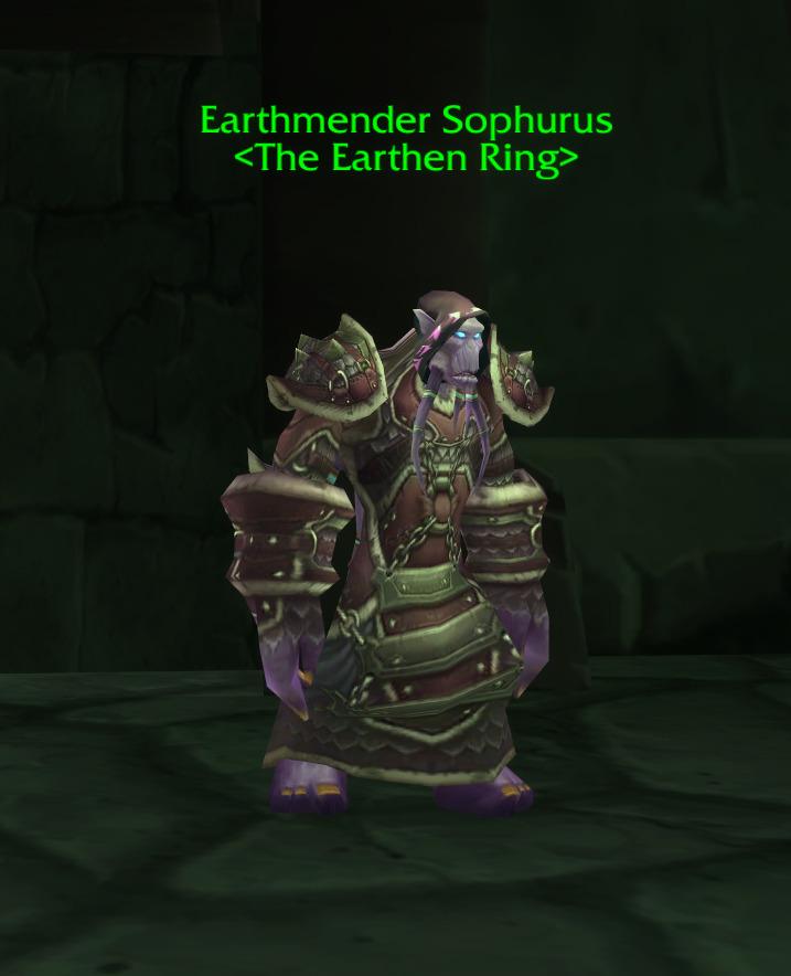 earthmender sophurus tbc wow