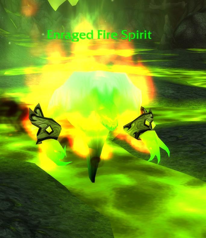 enraged fire spirit tbc wow