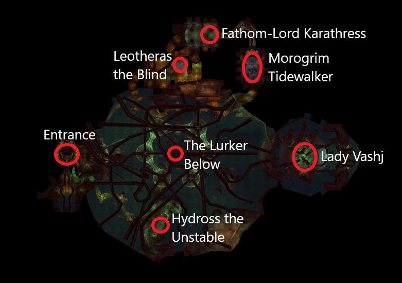 tbc wow ssc raid map