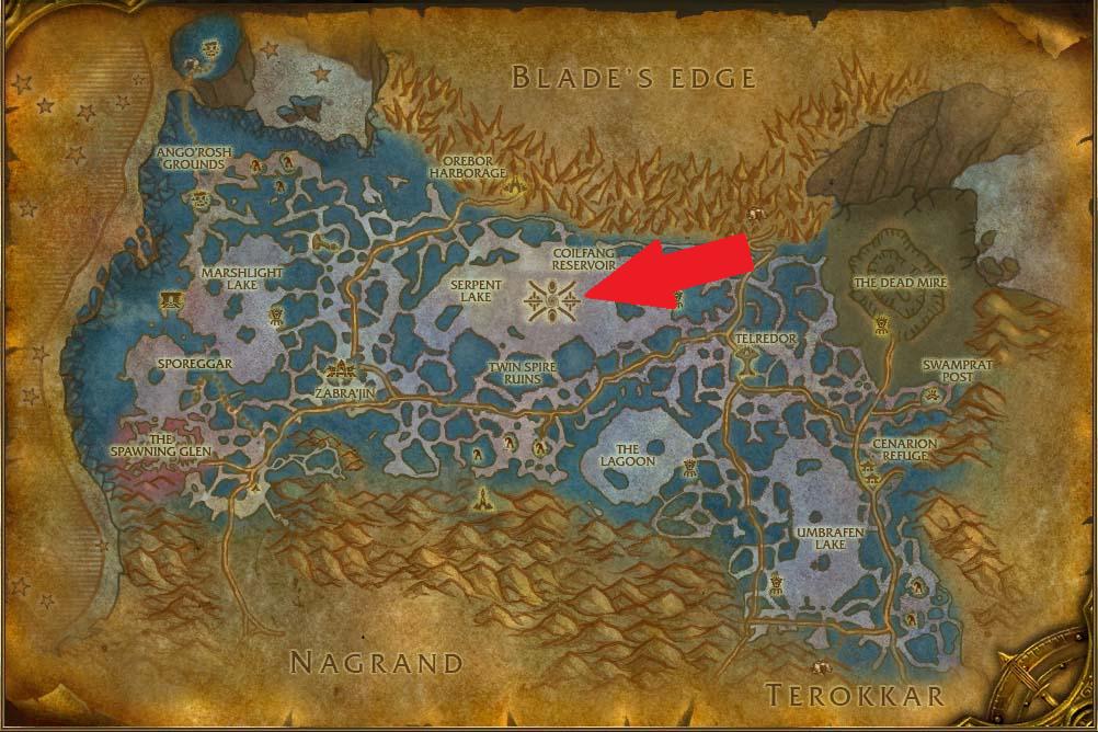 zangarmarsh map ssc