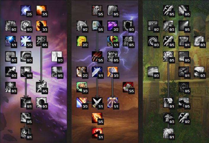 pve enhancement shaman talents and builds tbc 1