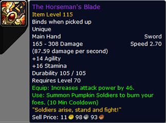 TBC Classic The Horseman's Blade